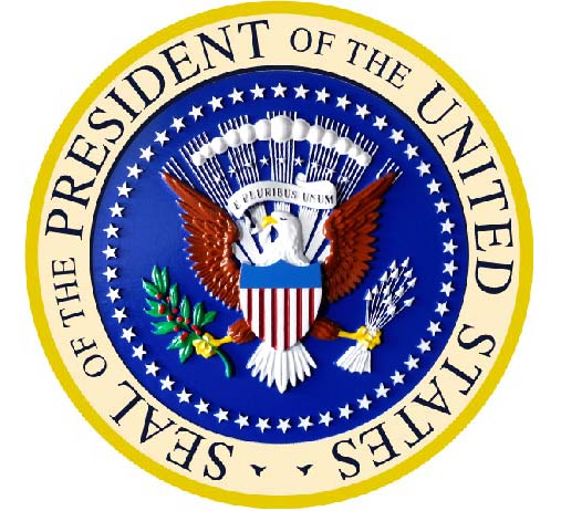 U30091 - Carved 3-D Wall Plaque of the Seal of the President of the United States