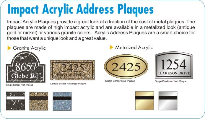 Acrylic Address Plaques