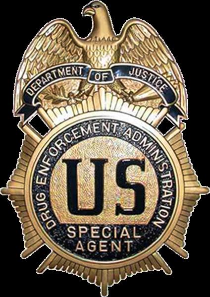 MB2280 - Badge of an Agent of the Drug Enforcement Administration (DEA), 3-D