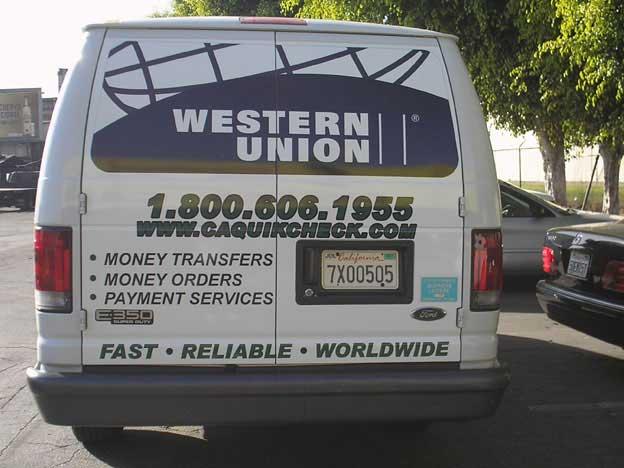 WESTERN UNION VAN