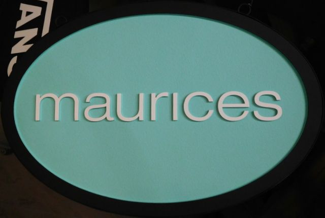 "SA28035 -  Carved Wood Sign for ""Maurices"" Store"
