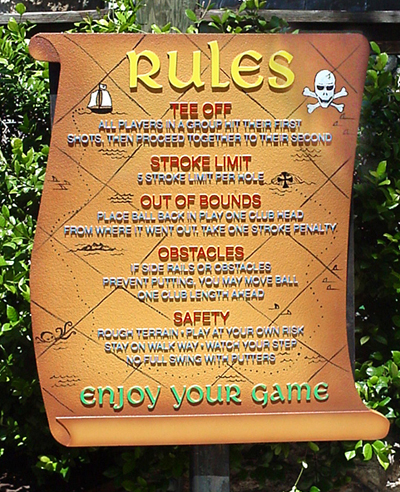 Mini Golf Rules