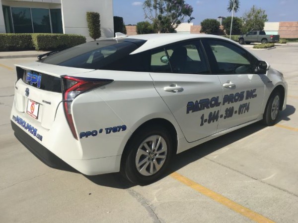 Vehicle graphics for security businesses in Orange County CA