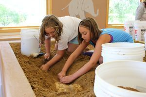 Kids in Junior Paleontology Program