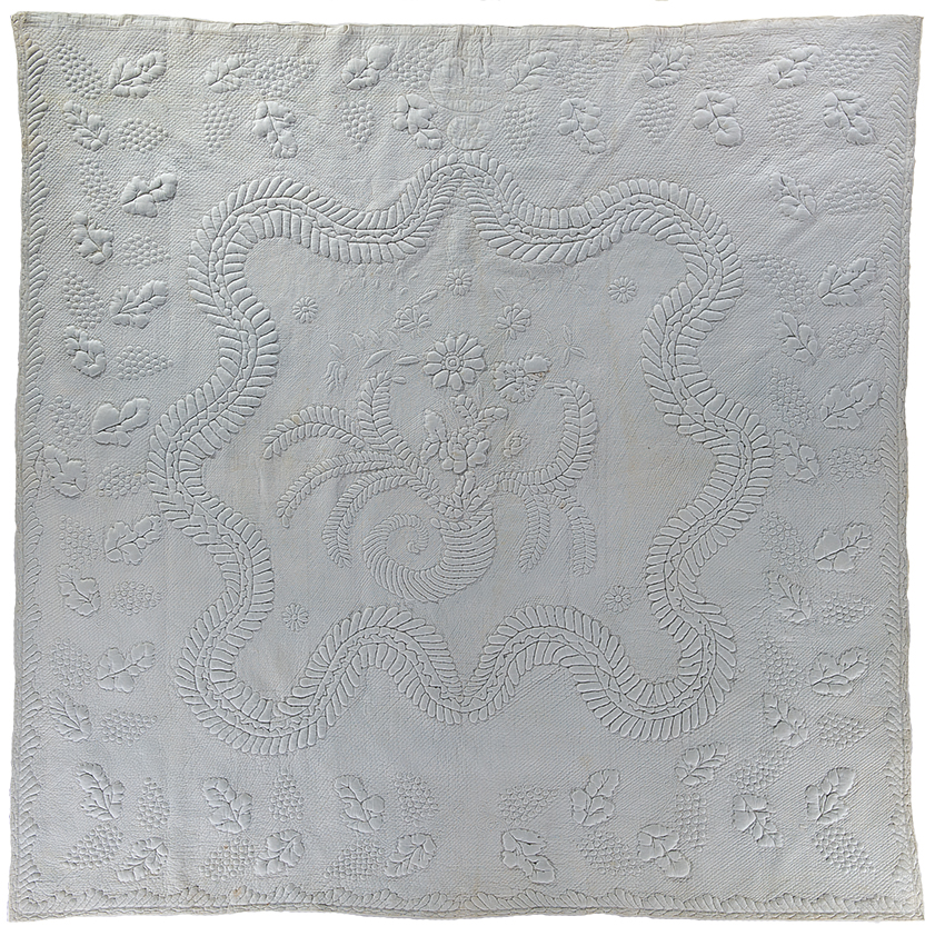 Whitework Whole Cloth Quilt