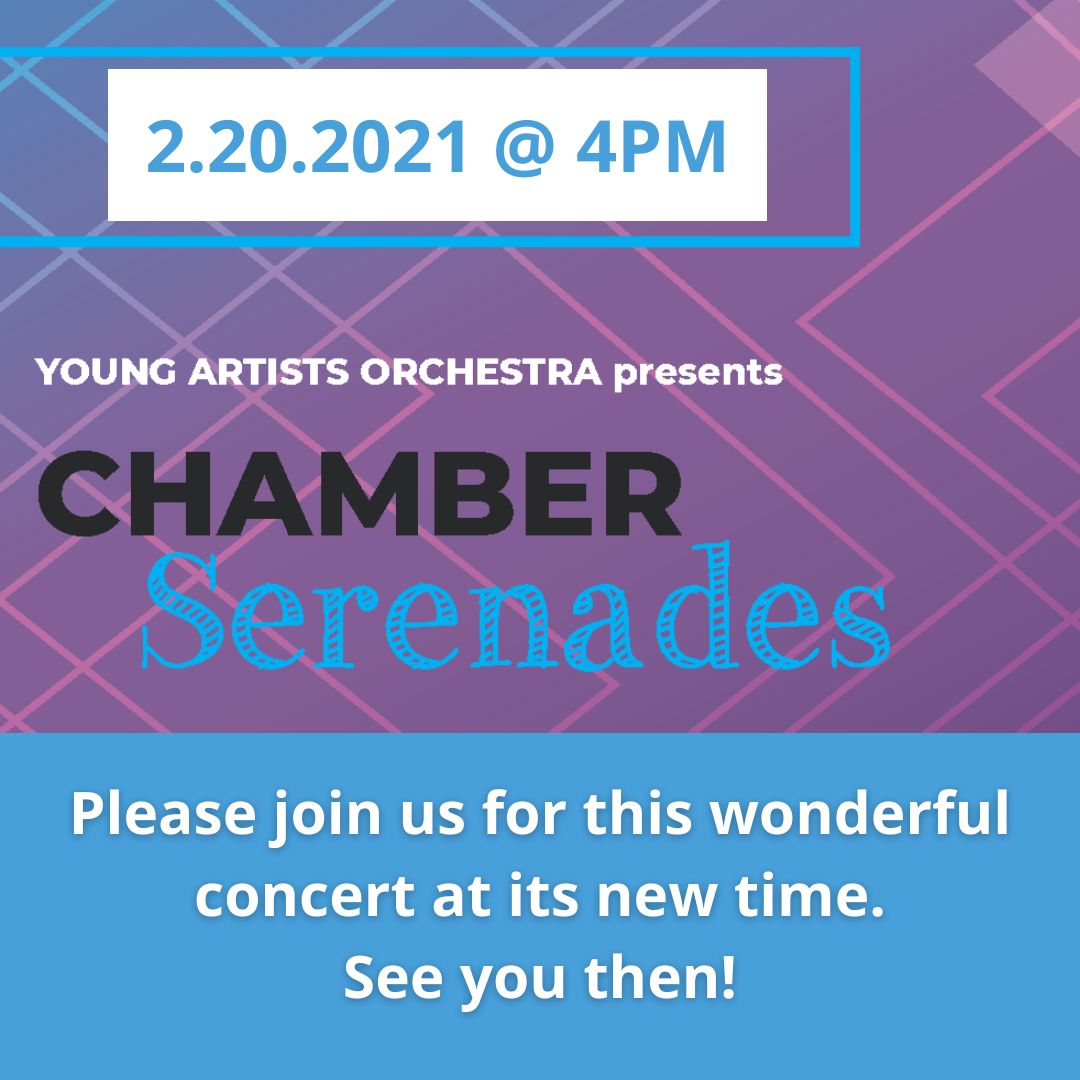 Young Artists Orchestra Virtual Concert: Chamber Serenades