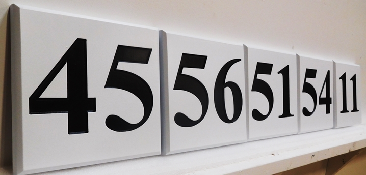 KA20921- Carved HDU Apartment Unit  Number Signs