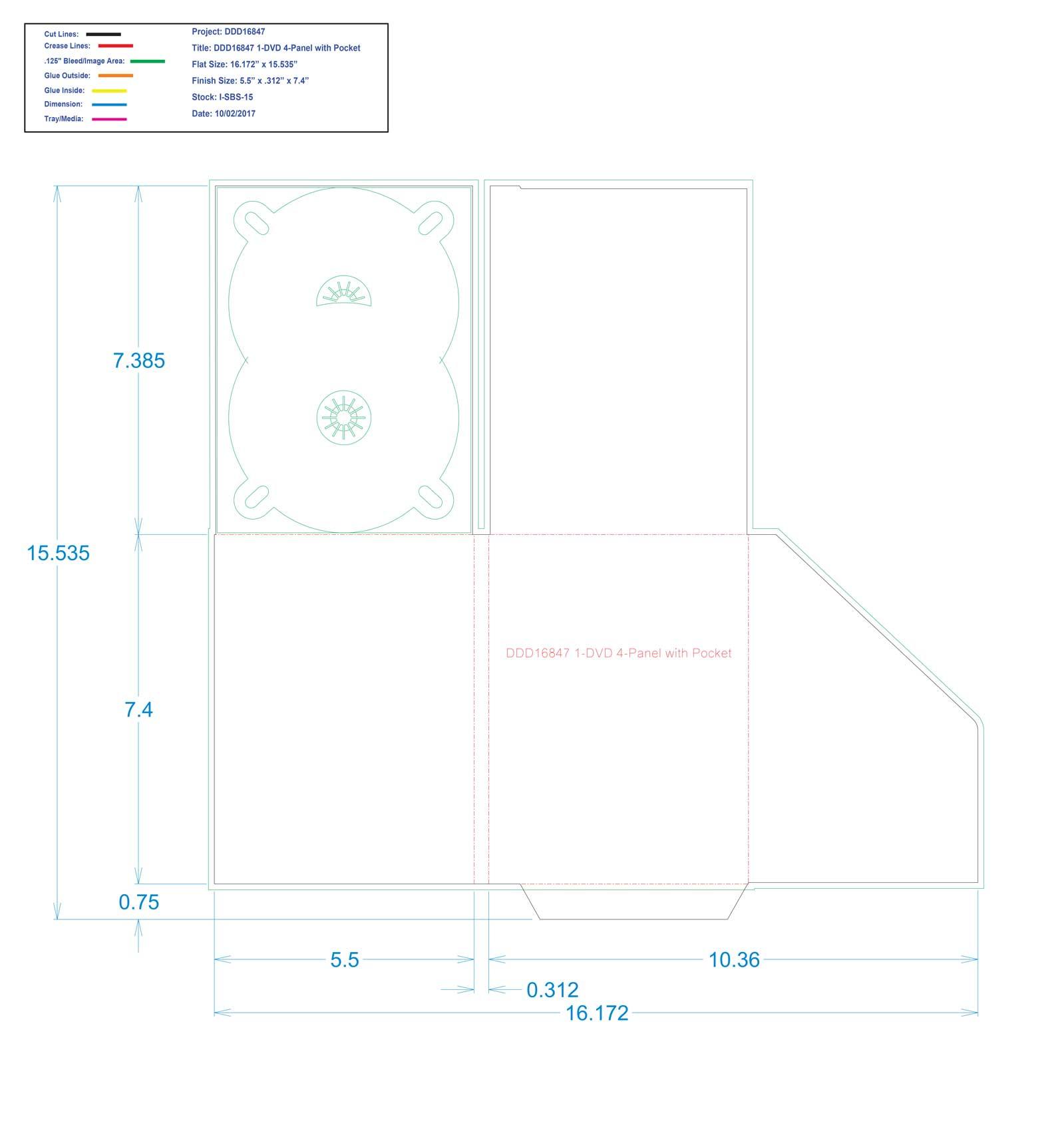 DDD16847 1-DVD 4-Panel with Pocket