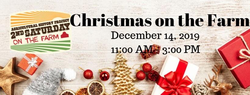 2nd Saturday- Christmas on the Farm