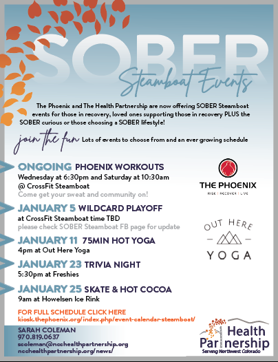 January Sober Events