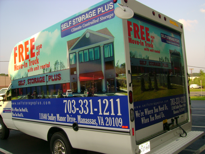 Self Storage Plus Truck Wrap