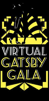 Black and gold Gatsby Gala logo
