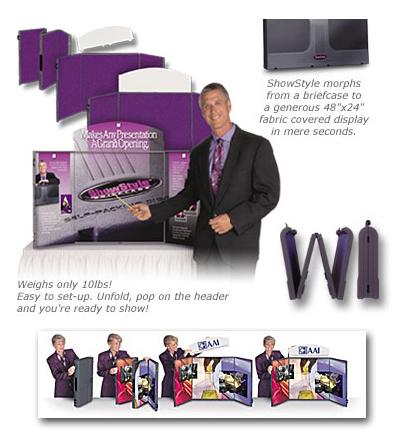Exhibit Prezenta Show Style Briefcase Presentation System