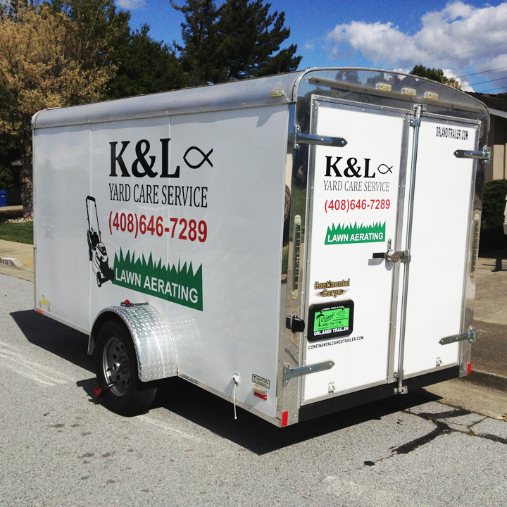 K&L Yard Care Service Trailer Graphics