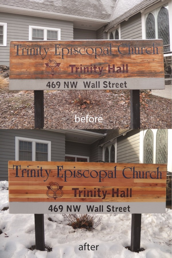 Sign Refurbishing for churches in Bend Oregon