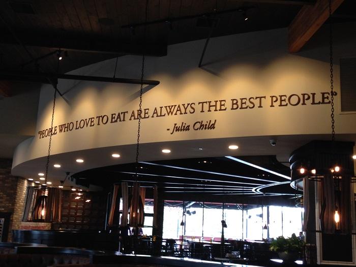 Restaurant Wall Lettering