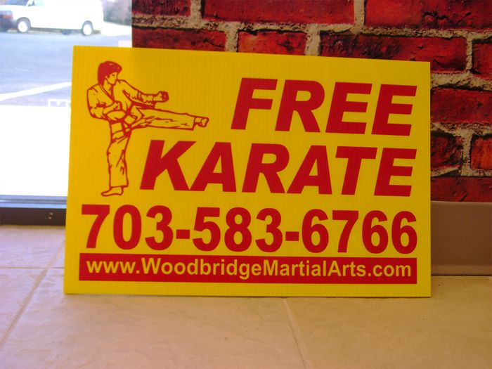 Woodbridge Martial Arts Yard Sign