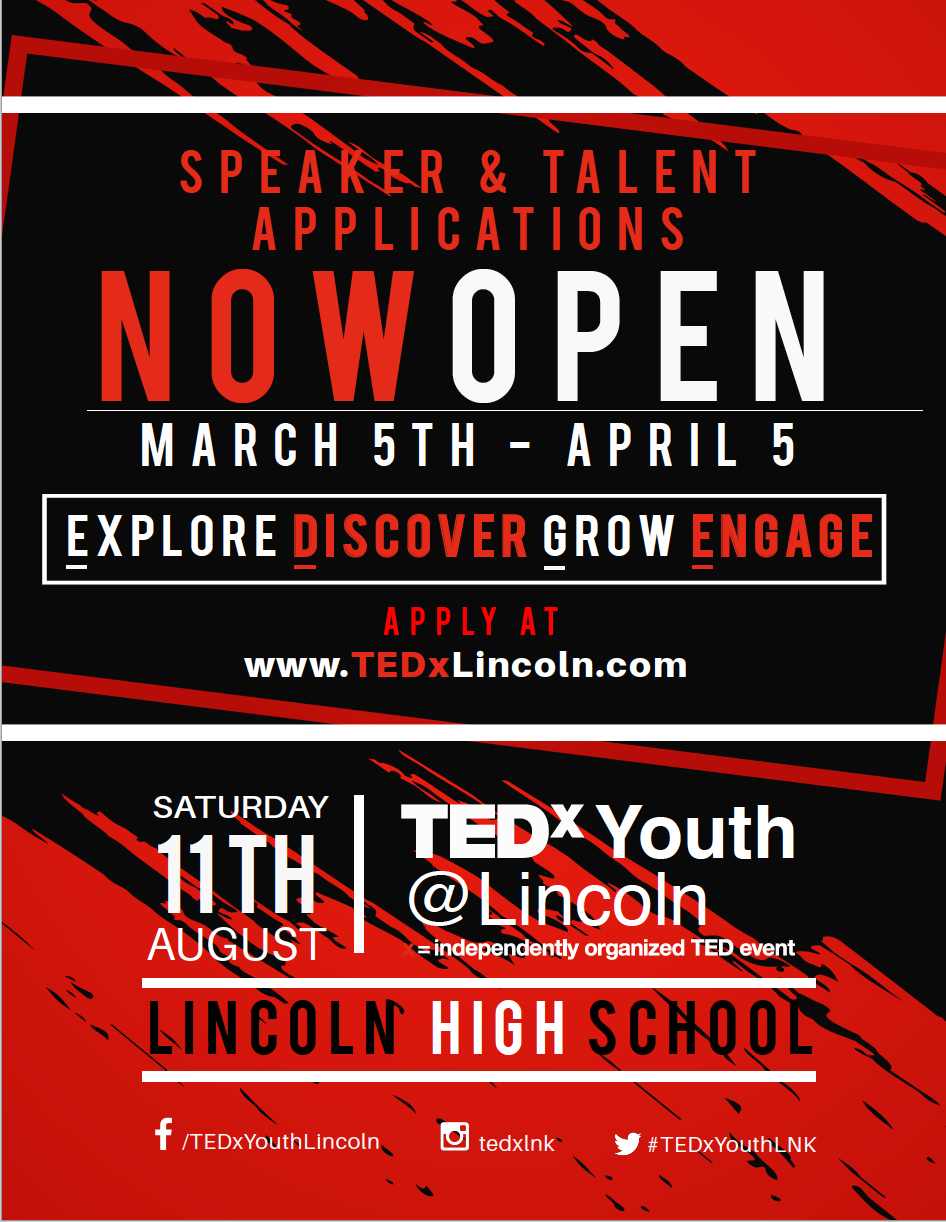 Speaker Application TEDxYouth@Lincoln