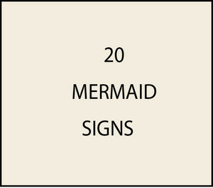 L21900 - Mermaid Signs