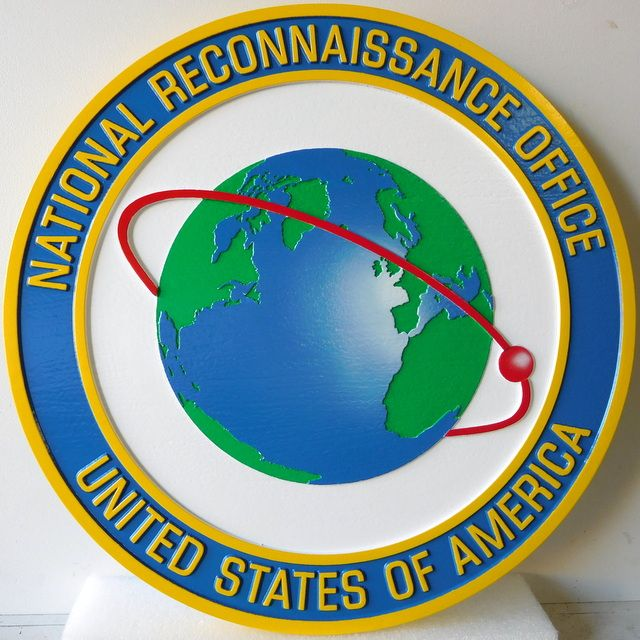 V31668 - Carved 3-D Wall Plaque of the Seal of the National Reconnaisance Office