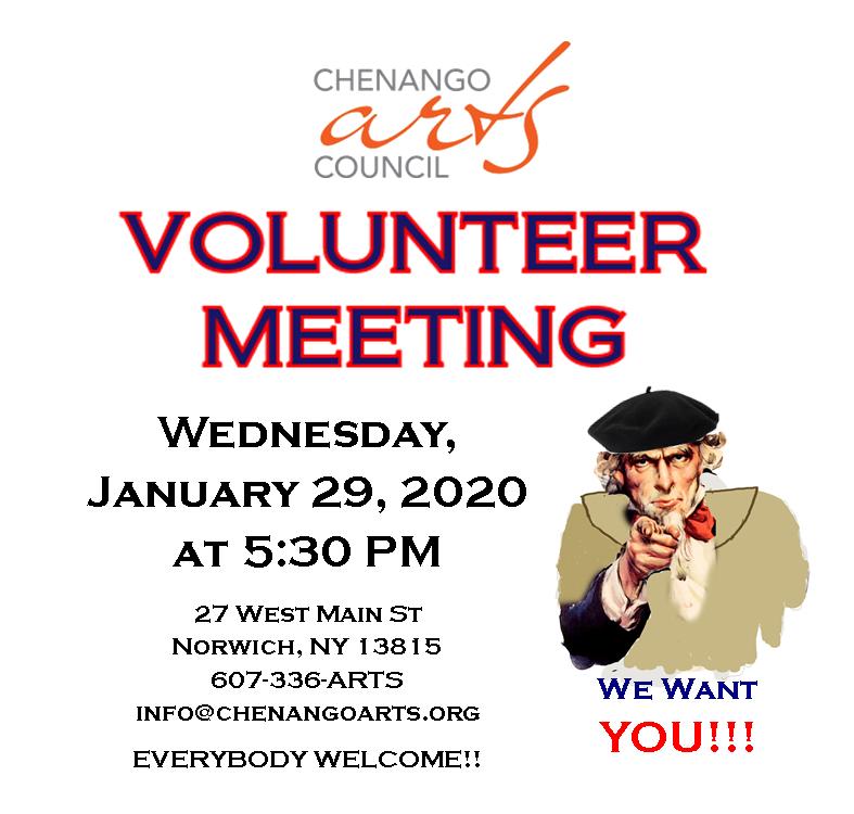Volunteer Meeting January 29, 2020