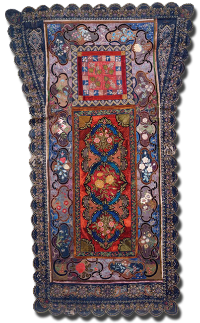 Coffin Cover, maker unknown, possibly made in Florida, United States, circa 1880-1900, 101 x 61 in, IQSCM 1997.007.0360
