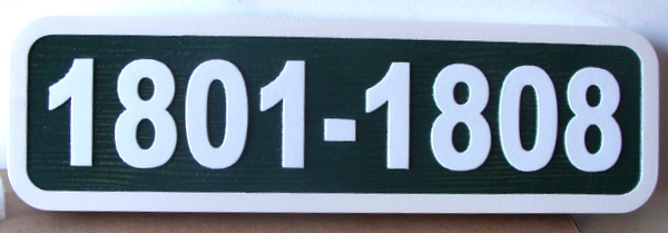 KA20908 - Carved HDU (Choice of Wood or HDU Available) Numeric Address Sign