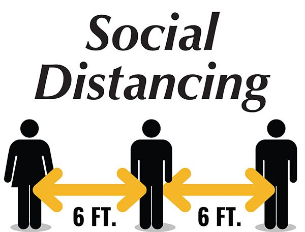 6Ft Distance Sign - Generic