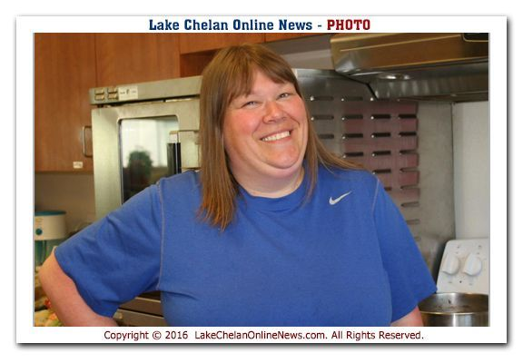 LeeAnne cooks for the Chelan, Entiat and Manson Sites
