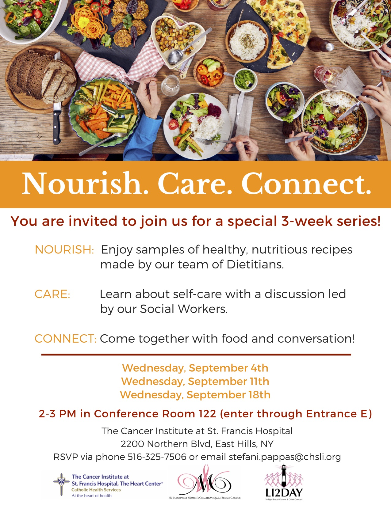 Nourish. Care. Connect 3- week series