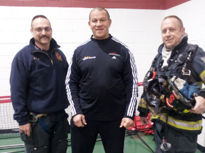 City of Reading Fire Department at Olivet Boys & Girls Club Tennis Program