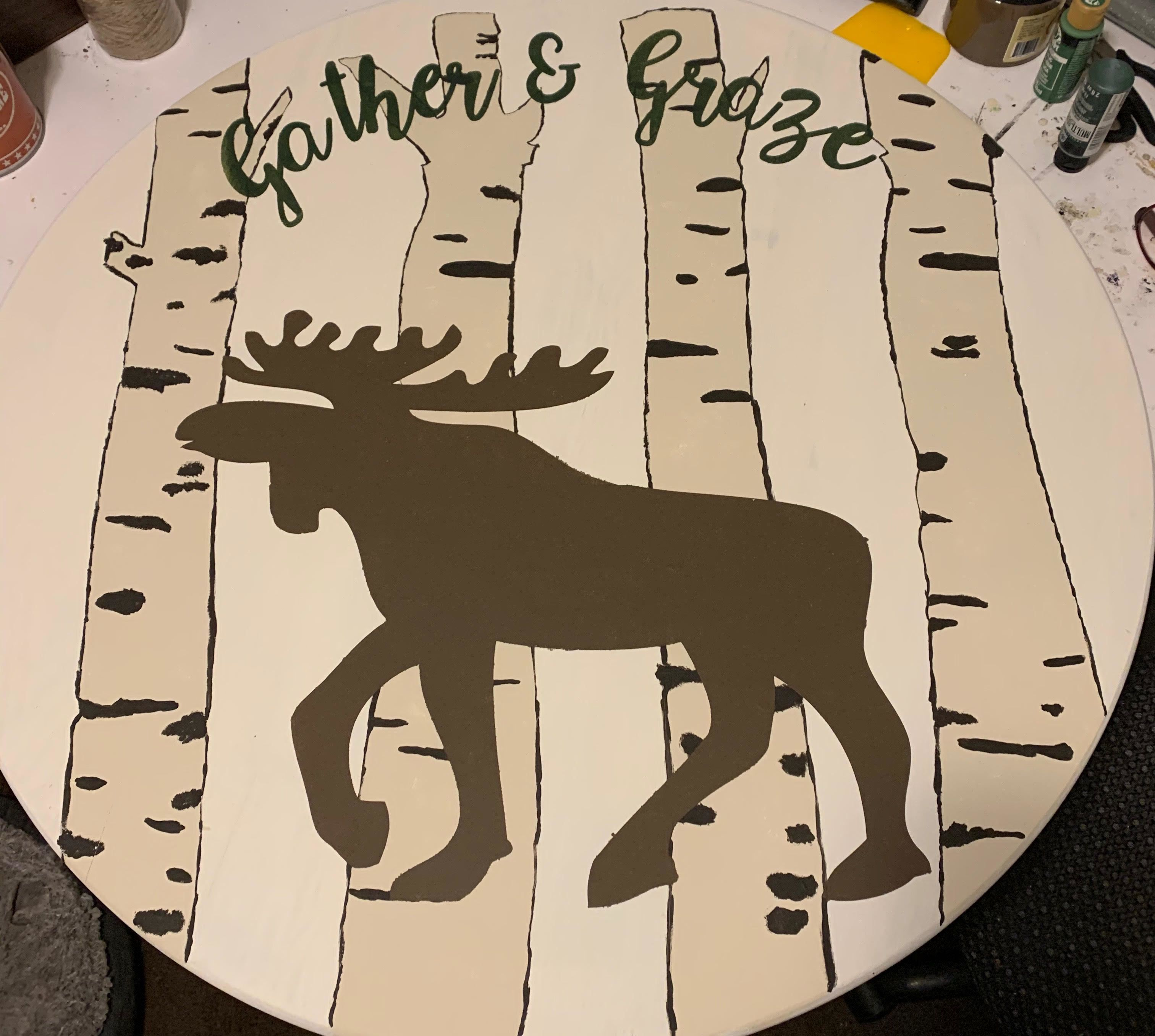 Gather and Graze Pub Table