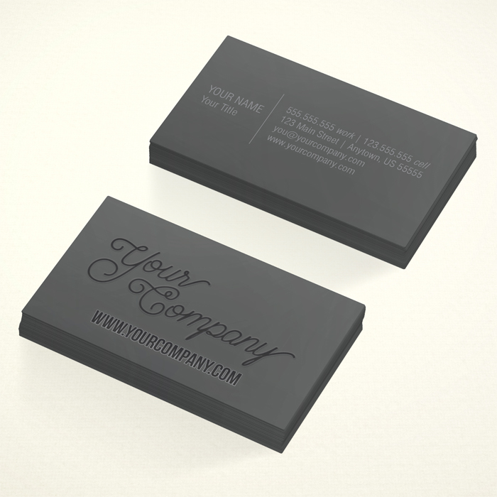 Business Card: 2 sided, black ink