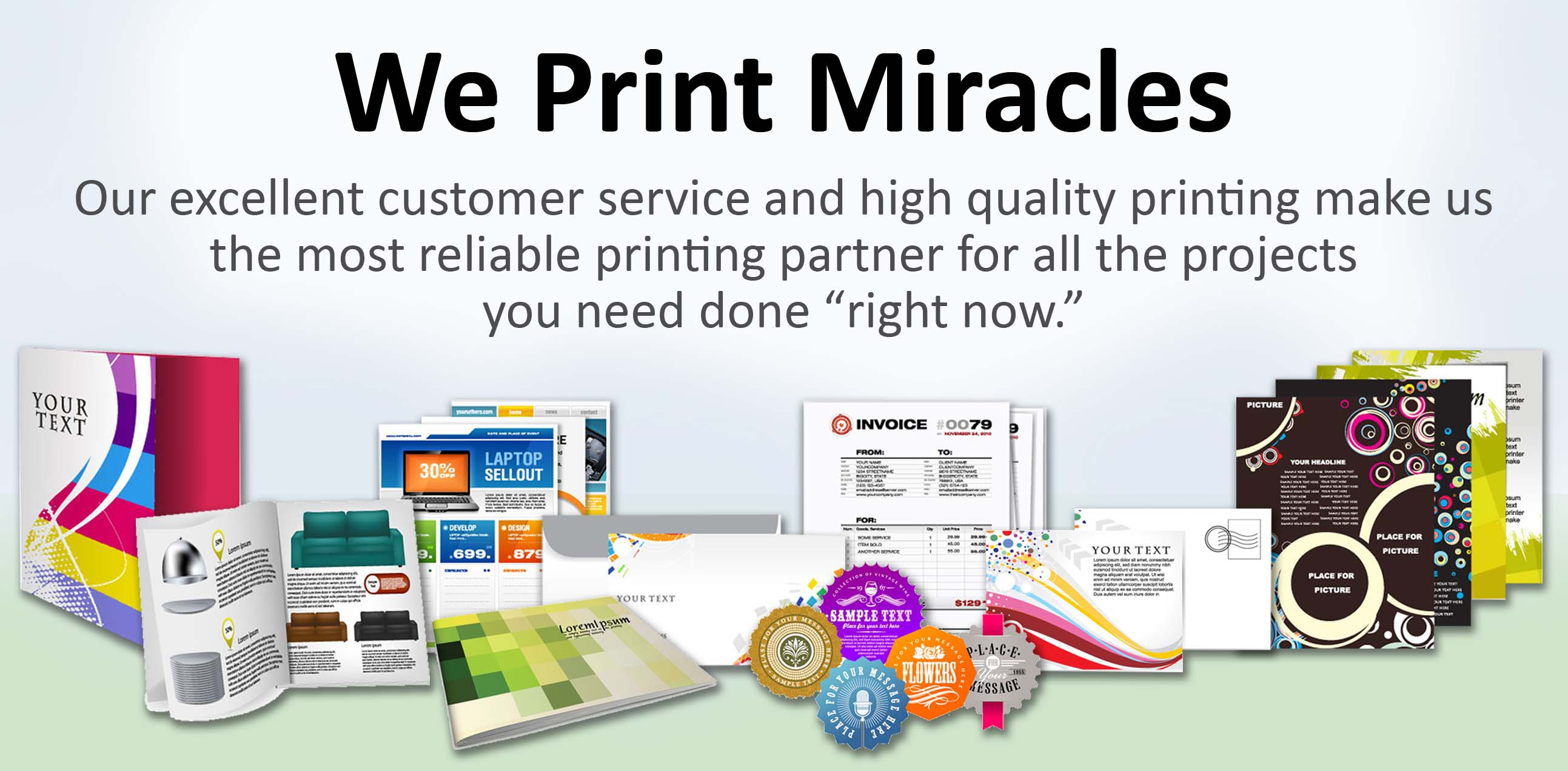 Printer banners brochures letterhead envelopes fairfield products services malvernweather Images
