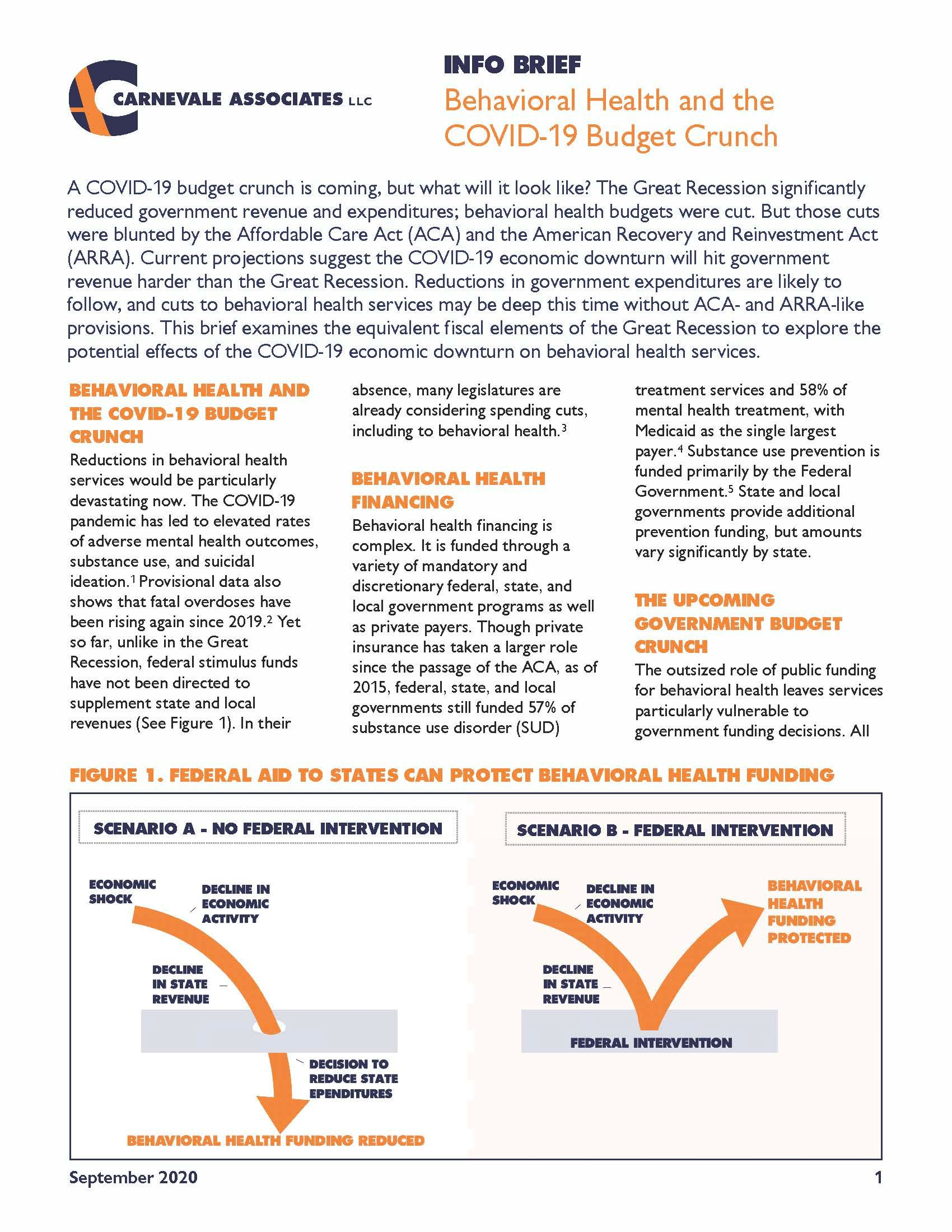 Behavioral Health and the COVID-19 Budget Crunch