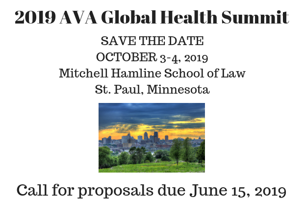Global Health Summit in St. Paul, MN on     October 3-4, 2019