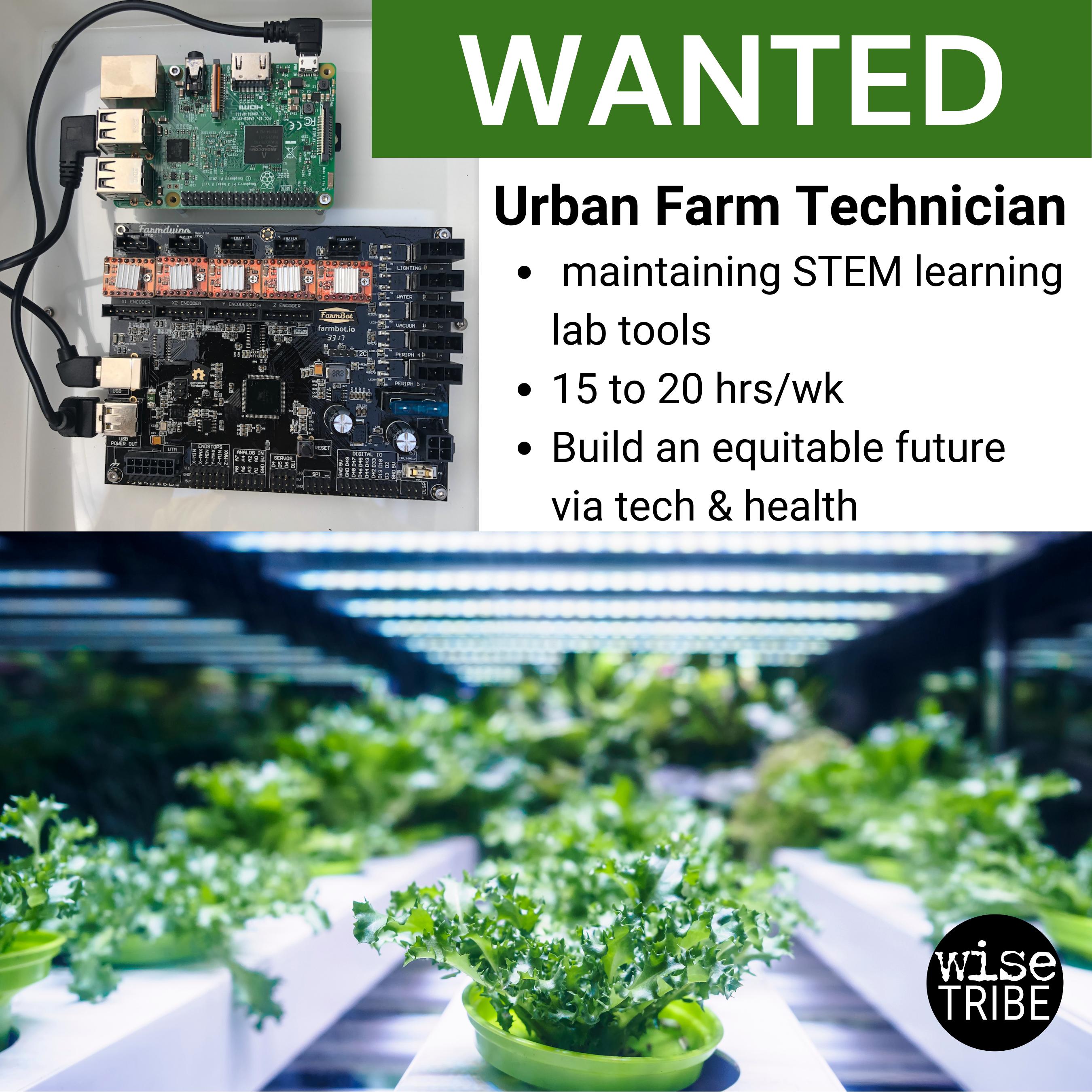 We're Hiring! Urban Farming Robotics Technician