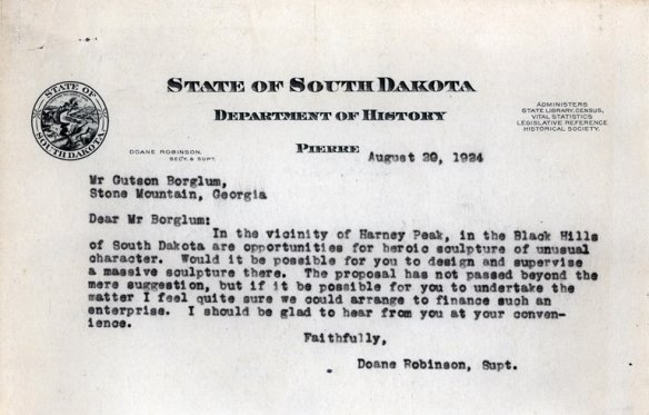 Robinson/Borglum correspondence on display at Cultural Heritage Center