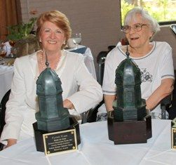Writer Harper Lee attends award ceremony to honor Fannie Flagg, 2012 winner of the Harper Lee Award