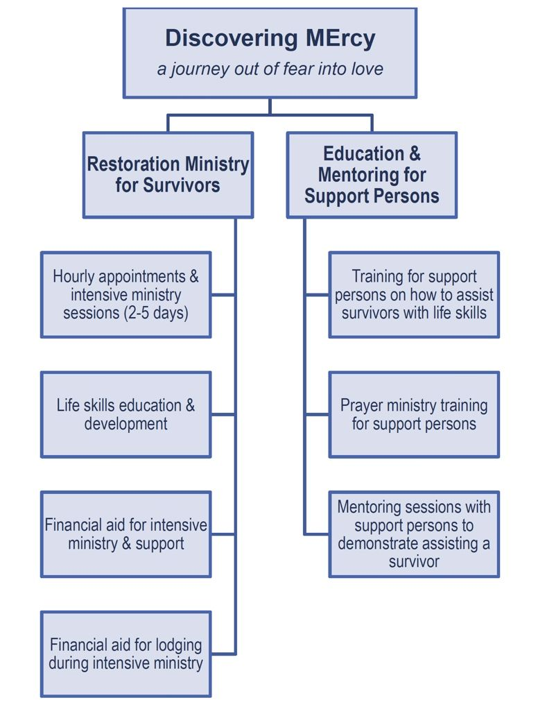 Discovering MErcy chart-Restoration Ministry for Survivors and Education and Mentoring for Support Persons