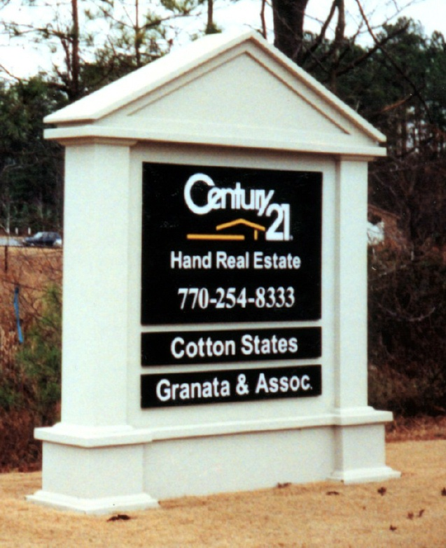 C12301 - Colonial Style Real Estate Monument Sign