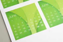 Calendars printed and produced in Owings Mills, Maryland.
