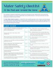 Parent/Caregiver Water Safety Checklist