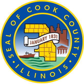 CP-1090 -  Plaque of the Seal of Cook County, Illinois,  Giclee