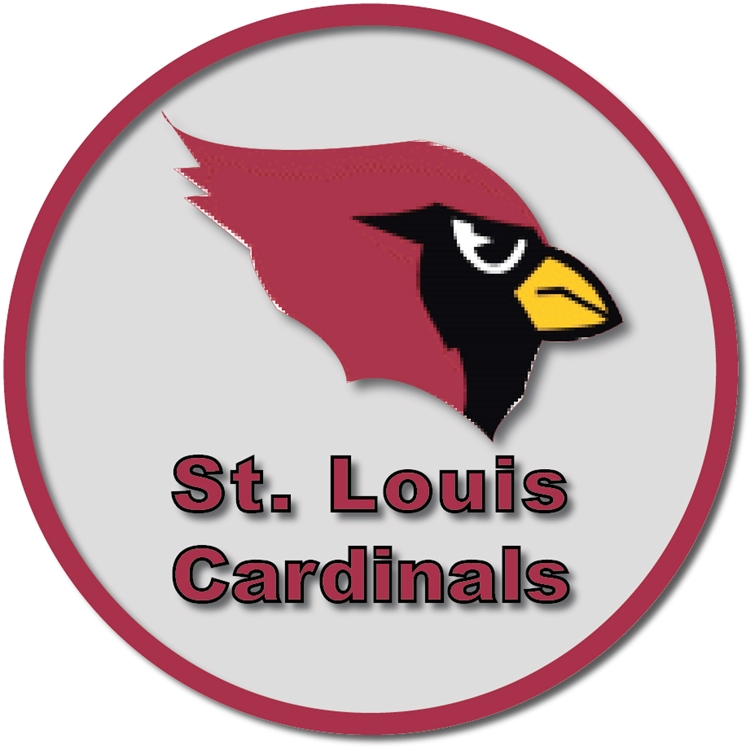 WP-1120 - Carved Wall Plaque of Logo for St. Louis Cardinals, MLB,  Artist Painted