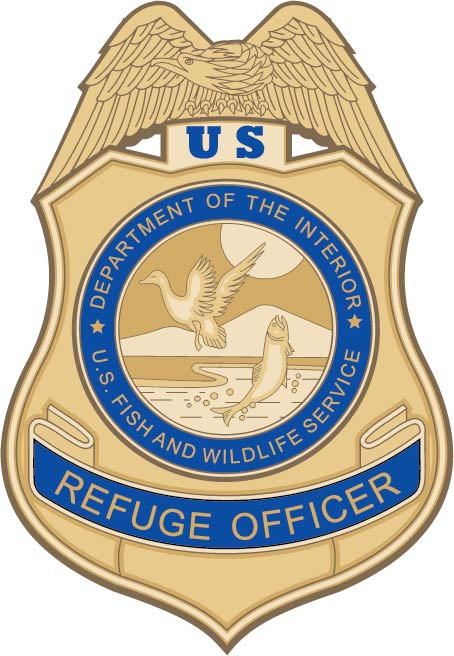 U30433 - Wildlife Refuge Officer Badge Carved Wood Plaque