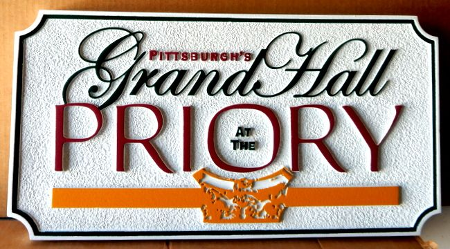 M1156 - Sandlasted (Sandstone texture) Sign for Grand Priory (Gallery 13)