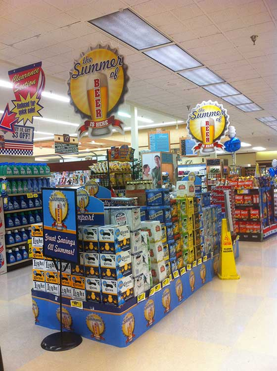 Kroger Summer Of Beer Display Produce