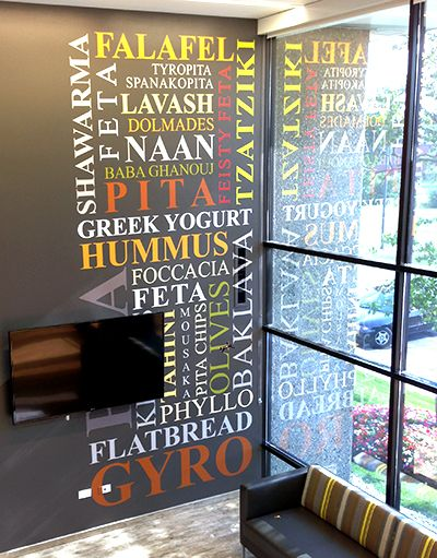 Grecian Delight media word wall