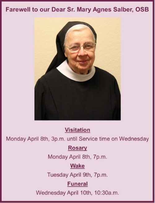 Sr. Mary Agnes Salber- Funeral Services